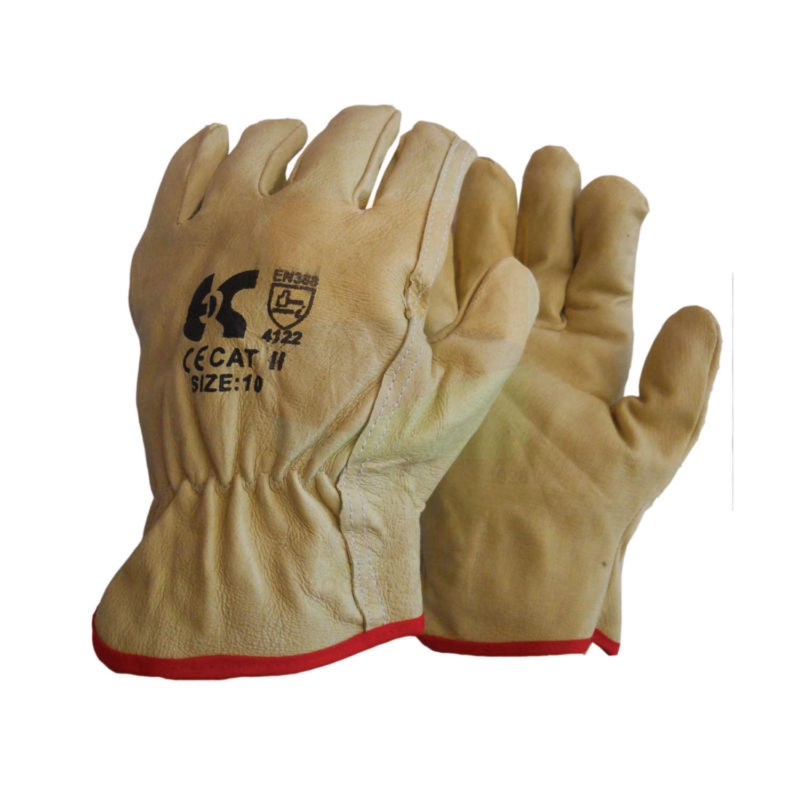 Γάντια δερμάτινα driver κίτρινα
