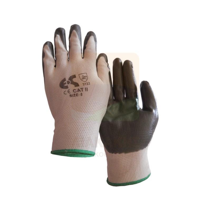 Γάντια νιτριλίου NBR Γκρί