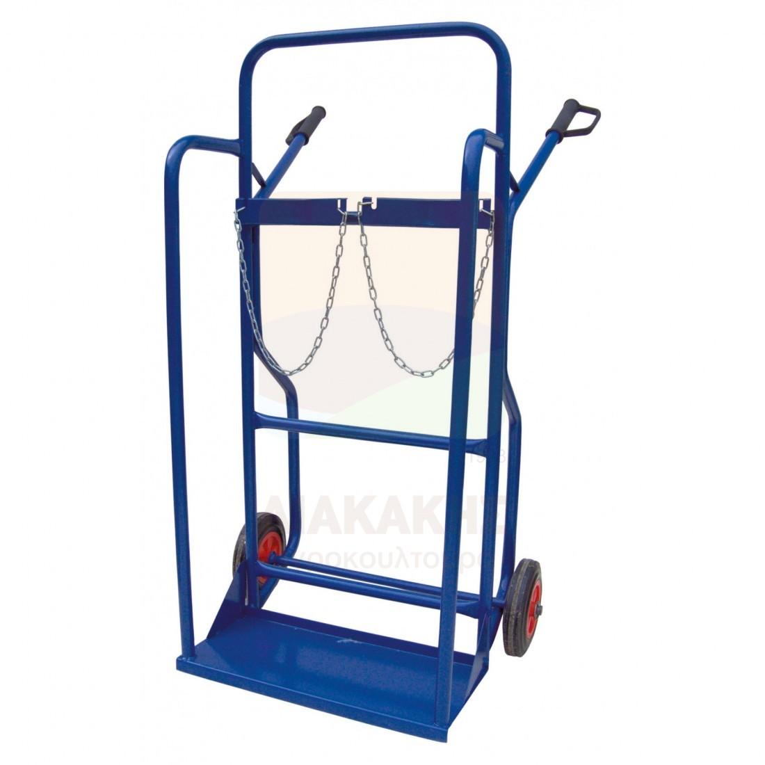 Δίτροχο καρότσι μεταφοράς για μπουκάλες οξυγόνου 1014 DENAXAS
