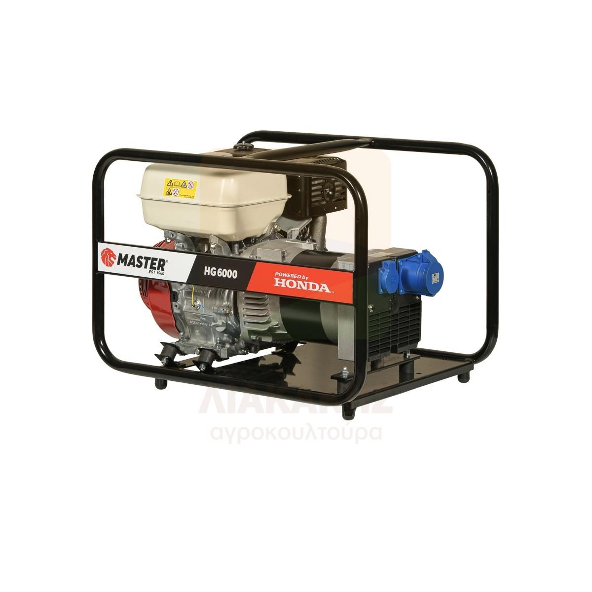 Γεννήτρια βενζίνης μονοφασική 4.5 kVA MASTER