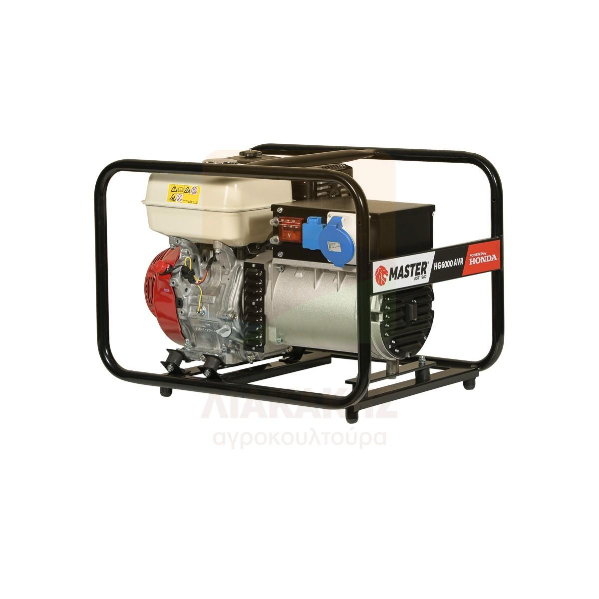 Γεννήτρια βενζίνης μονοφασική 5.1 kVA με σταθεροποιητή AVR