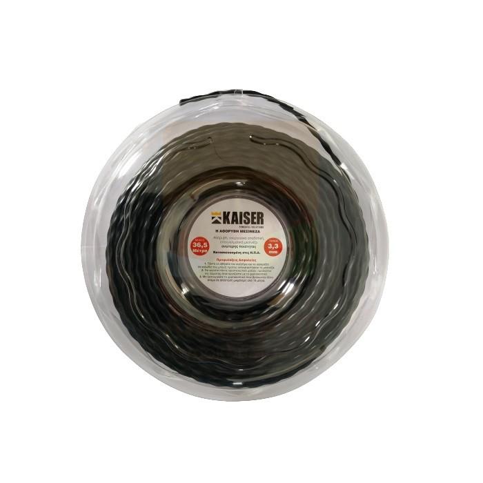 Μεσινέζα KAISER - Μαύρη Στριφτή 3.3mm - 36.5m Made in USA