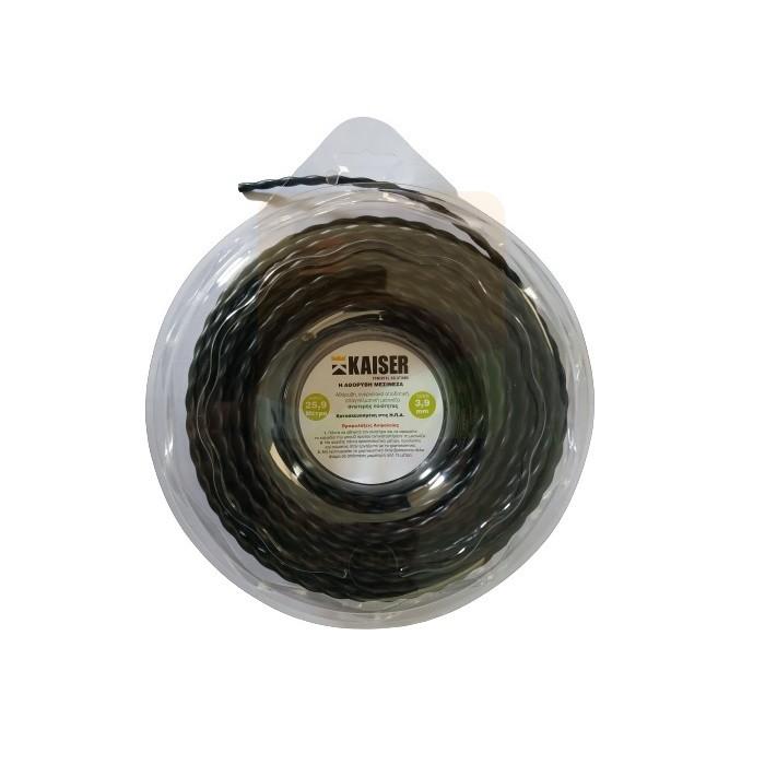Μεσινέζα KAISER - Μαύρη Στριφτή 3.9mm - 25.9m | Made in USA